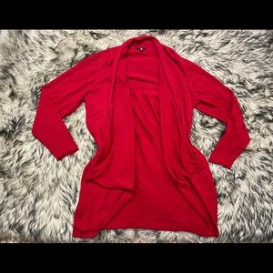Eileen fisher plus size open cardigan Red 1x